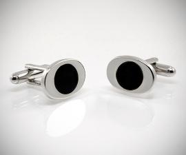 Gemelli con colori personalizzabili LeCuff, Gemelli per camicia da polso ovali con tondo smaltato