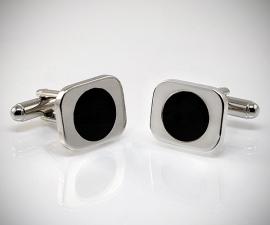 Gemelli per camicia in acciaio LeCuff, Gemelli per camicia da polso smaltati rettangolari