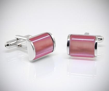 Gemelli per camicia pietra rosa