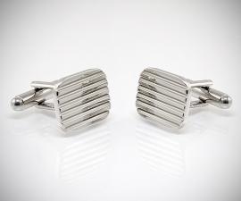 gemelli in acciaio LeCuff, Gemelli da polso per camicia diamantati a righe