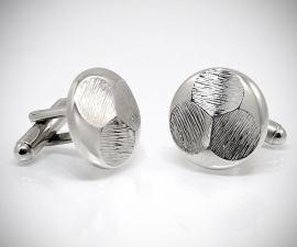 gemelli in acciaio LeCuff, Gemelli per camicia trifoglio da polso
