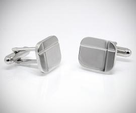 gemelli per matrimonio - LeCuff Gemelli per camicia diamantati a due righe da polso