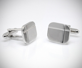 Gemelli per camicia diamantati a due righe da polso, gemelli da uomo