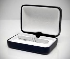Fermacravatta in acciaio - LeCuff Fermacravatta con diagonale LeCuff