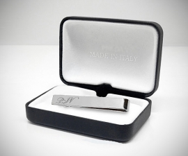 Fermacravatta in acciaio - LeCuff Fermacravatta personalizzati con incisione iniziali loghi cifre lettere incise