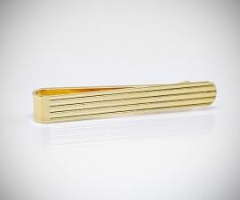 Fermacravatta dorati LeCuff, Fermacravatta oro righe orizzontali LeCuff