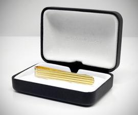 Fermacravatta dorati - LeCuff Fermacravatta oro righe orizzontali LeCuff