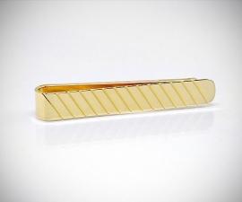 Fermacravatta dorati LeCuff, Fermacravatta oro righe diagonali LeCuff