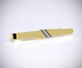 Fermacravatta dorati LeCuff, Fermacravatta dorato riga diagonale LeCuf