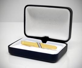Fermacravatta dorati - LeCuff Fermacravatta dorato riga diagonale LeCuf