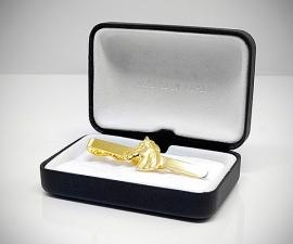 Fermacravatta dorati - LeCuff Fermacravatta oro cavallo LeCuff