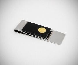 Fermasoldi acciaio LeCuff, Fermasoldi plexi con moneta LeCuff
