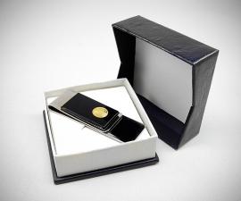 Fermasoldi acciaio - LeCuff Fermasoldi plexi con moneta LeCuff
